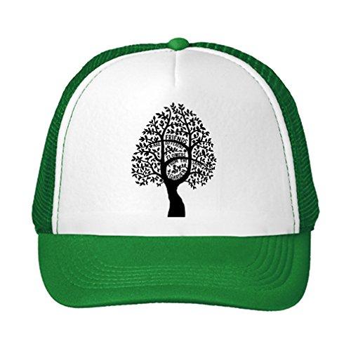 Speedy Pros Friends Different Flowers From Same Garden Adjustable High Profile Trucker Hat Kelly Green