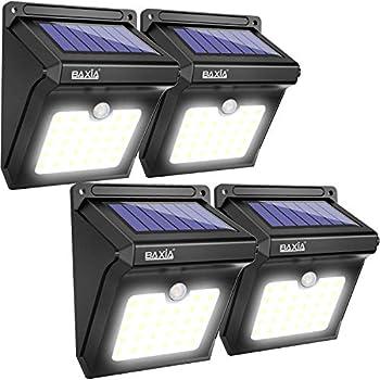 BAXIA TECHNOLOGY BX-SL-101 Solar Lights Outdoor 28 LED Wireless Waterproof Security Solar Motion Sensor Lights, (400LM,4 Packs)