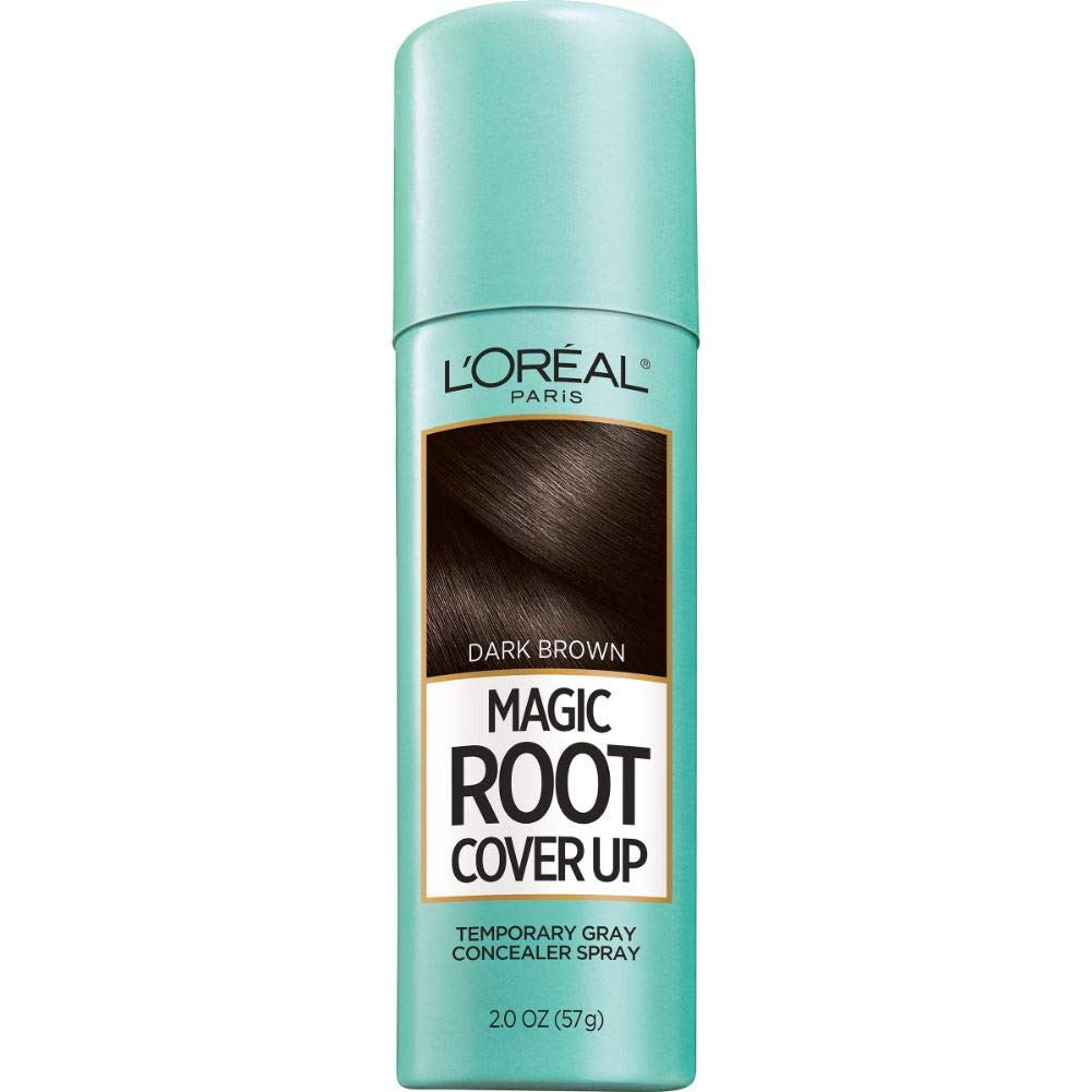 Amazon Com L Oreal Paris Magic Root Cover Up Gray Concealer Spray Dark Brown 2 Oz Beauty