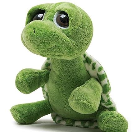 Bonito gran ojo tortuga peluche muñeca relleno de peluche almohada decoración del hogar niño regalo