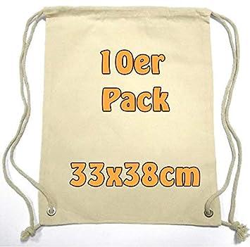 Cottonbagjoe Pequeño Algodón mochila bolsa de tela bolsa de deporte bolsa de deporte para niños Guardería