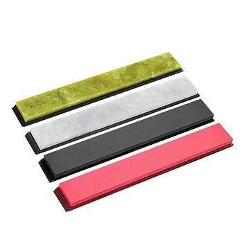 Domeilleur - 4 Cuchillas afiladoras para pulir Piedra de afilar con Base 3000-10000#.