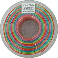 Stronghero3D 3D Printing PLA Filament 1.75mm Rainbow Multicolors Net Weight 1KG Accuracy +/-0.05mm from Stronghero3D