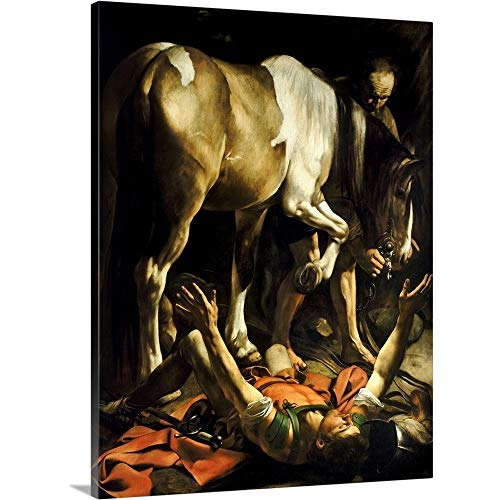 GREATBIGCANVAS Gallery-Wrapped Canvas Entitled The Conversion of St. Paul, 1601 by Michelangelo da Caravaggio 30