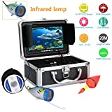 MAOTEWANG 20M Cable 7' Inch 1000tvl Underwater Fishing Video Camera Kit 12 PCS LED Infrared Lamp Lights Video Fish Finder Lake Under Water fish camera