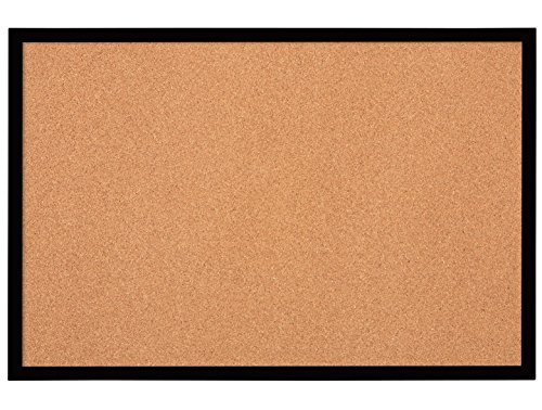 Quartet Bulletin Board, Cork Board, 2' x 3', Black Frame...