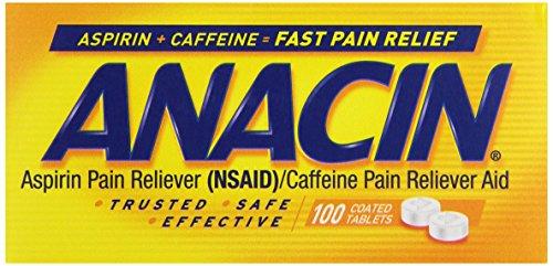 Anacin Aspirin Tablets, 100 ct - Anacin Aspirin