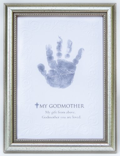 Memento Baptism Print (The Grandparent Gift Frame Wall Decor, Godmother Frame for Handprint from Godchild)