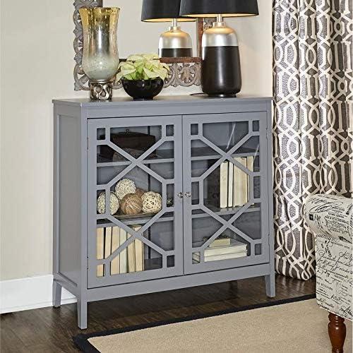 Linon Drake Grey Large Cabinet
