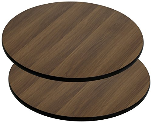 (Flash Furniture 2 Pk. 36'' Round Walnut Laminate Table Top)