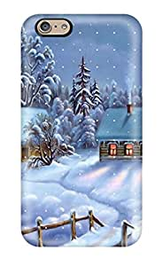 Protective Tpu Case With Fashion Design For Iphone 6 (awesome Winter Happy Christmas )