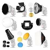 Falcon Eyes Softbox Flash Diffuser Adapter Kit Accessory for K9/K-9 Universal Mount CA-SGU Speedlite for SGA-K9 Compatible Canon Nikon