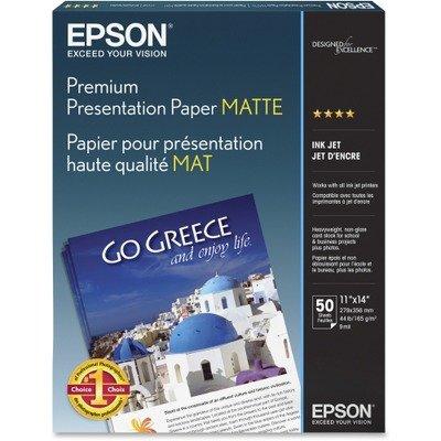 (Epson - Epson - Premium Matte Presentation Paper, 45 lbs, 11 x 14, 50 Sheets/Pack)