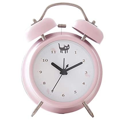 Amazon.com: SX1560 Metal Alarm Clock Mute Simple Alarm Clock ...