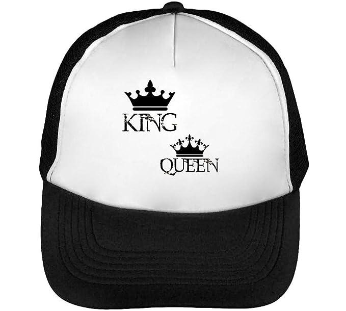 King Couple Gorras Hombre Snapback Beisbol Negro Blanco: Amazon.es: Ropa y accesorios