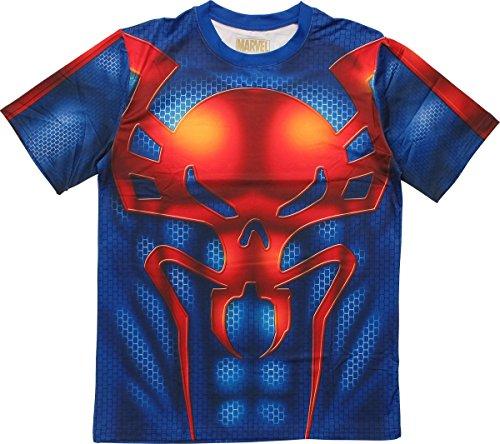 [Marvel Ultimate Spider-Man Sublimated Costume T-Shirt | S] (Spider Man 2099 Costume Design)