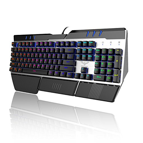 HAVIT 104 Keys RGB Backlit Wired Mechanical Gaming Keyboard with Blue Switches by Havit