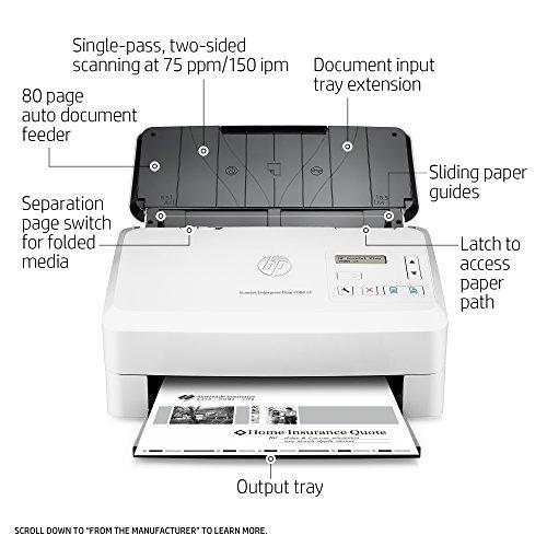 HP ScanJet Enterprise Flow 7000 s3 Sheet-feed OCR Scanner by HP (Image #1)