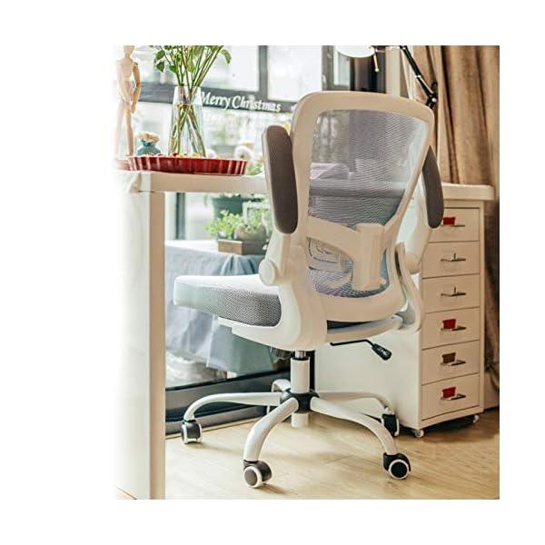 Galatée Chaise de Bureau Ergonomique, Chaise avec Accoudoirs Réglables et Support Lombaire, Le Tissu est Conforme Aux…