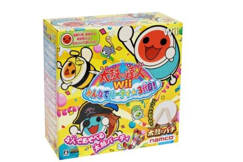Taiko no Tatsujin Wii: Minna de Party * 3-Yome! (Bundle w/TataCon) [Japan Import] by Namco Bandai Games