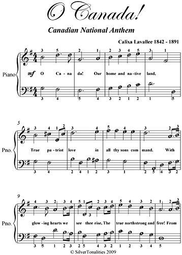 Canada Sheet Music - O Canada Easy Piano Sheet Music