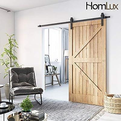 Homlux Heavy Duty Sturdy Sliding Barn Door Hardware Kit