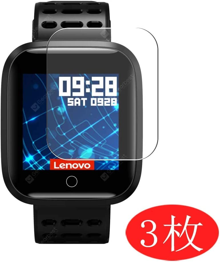 [3 Pack] Synvy Screen Protector Compatible with Lenovo E1 Smartwatch Smart Watch TPU HD Film Protectors [Not Tempered Glass]