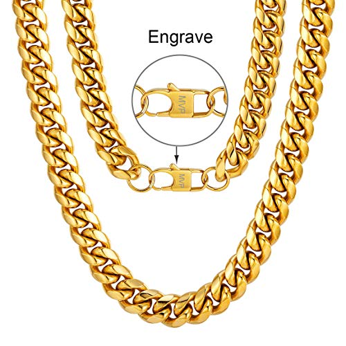 Chunky Hip Hop Chain Customized Personalised Necklace Rapper Costume Accessory Stainless Steel Husband Necklace Gift