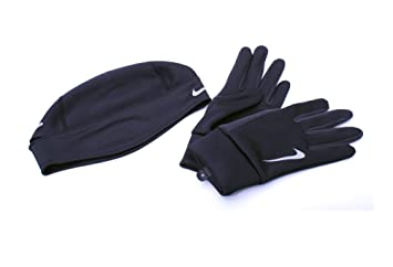 f2a74a60b83 Image Unavailable. Image not available for. Colour  Nike Men s Running  Thermal Beanie Glove Set ...