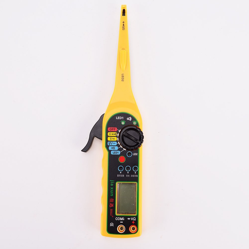 IZTOSS Multi-function Auto Circuit Tester Multimeter Lamp Car Repair Automotive Electrical Circuit Testers Multimeter 0V-380V Voltage yellow
