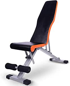 Adjustable Benches Multifunctional Dumbbell Bench Home Abdomen Abdominal Muscle Supine Board sit-ups Fitness Equipment Flying Bird Sports Chair (Color : Black, Size : 105 * 34 * 38cm(41 * 13 * 15in))