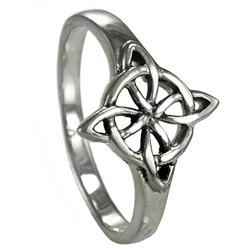 Sterling Silver Witch (Sterling Silver Celtic Quaternary Wiccan Witches Knot Ring Size 8)