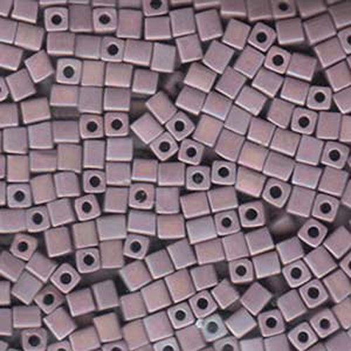 20Gr Opaque Amethyst Matte Ab Miyuki 4mm Square Cube Glass Seed Beads