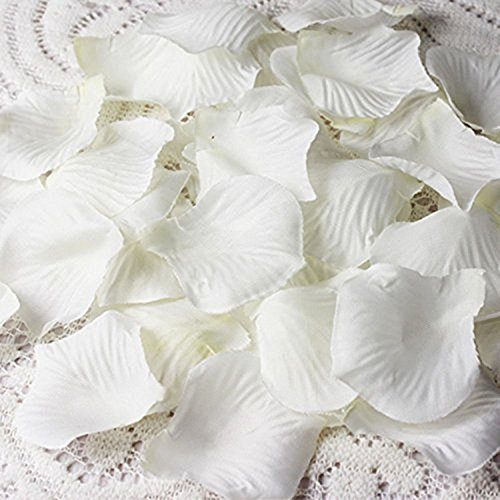 4000 Silk Roses (Cozyswan 4000 Silk Rose Petal ivory white Wedding Decorations Petals Artificial Petals)