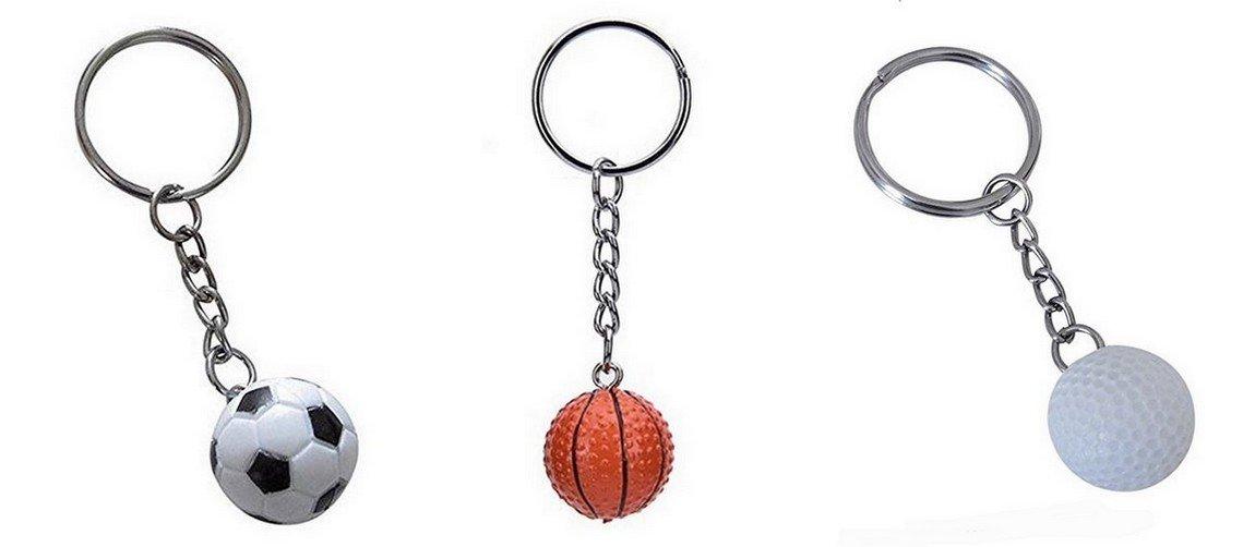 Lot de 3 llavero de balón de fútbol, de balón de baloncesto y ...