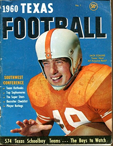 1960 Dave Campbell's Texas Football Magazine Inaugural Issue Good 36870