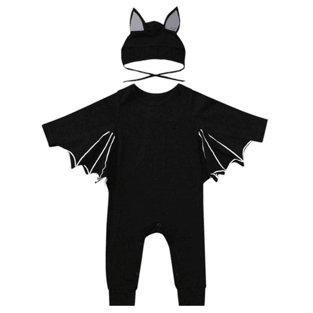per Romperes Niños Disfraz de Halloween para Niños Traje de Murciélago con Alas Ropa Escalada de Cosplay para Fiesta Per Trading