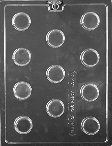 Mini Plain Cookie Chocolate Mold - AO146 - Includes Melting & Chocolate Molding Instructions (Mini Oreo Cookie Molds)