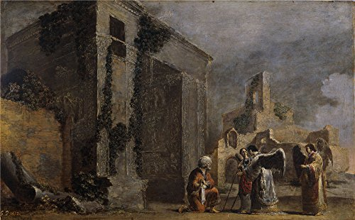 [Perfect Effect Canvas ,the Best Price Art Decorative Prints On Canvas Of Oil Painting 'Bramer Leonaert Abraham Y Los Tres Angeles Ca. 1640 ', 10 X 16 Inch / 25 X 41 Cm Is Best For Hallway Artwork And Home Artwork And] (Custom Costumes Makers Los Angeles)