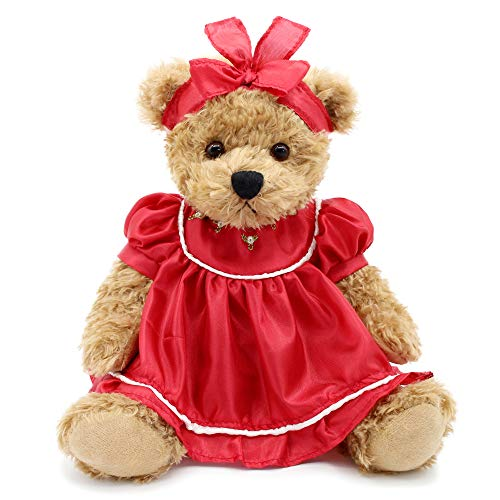 (Oitscute Small Baby Teddy Bear with Cloth Cute Stuffed Animal Soft Plush Toy 10