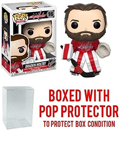 Funko POP! Sports NHL Washington Capitals Braden Holtby Action Figure (Bundled with Pop Box Protector to Protect Display Box)