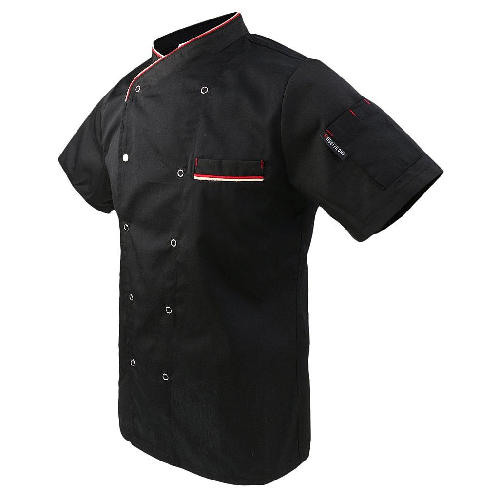Baoblaze Giacca T-shirt Top Camicie Giacche da Chef Ristorazione Costumi per Cuoco Unisex