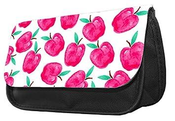 Estuche para lápices con diseño de manzana, color rosa ...