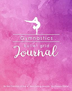 Gymnastics Bullet Grid Journal: A Perfect Gift for Gymnasts and Coaches, 150 Dot Grid and Inspiration Pages, 8x10, Professionally Designed (Journals, Notebooks and Diaries)