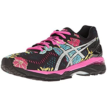ASICS  Gel-Kayano 23 Women's Running Shoe (Black, Silver, Pink Glow)