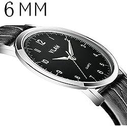 Pansupply 6 mm Super Thin Men's Luxuary Watches Casual Quartz Wrist Watch Relogio Musculino