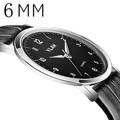 Pansupply 6 mm Super Thin Men's Luxuary Watches Casual Quartz Wrist Watch Relogio (Qi Xl Halloween)