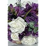 Silk-Blooms-Ltd-Quirky-Purple-Freesia-Roses-Bridal-Wedding-Bouquet