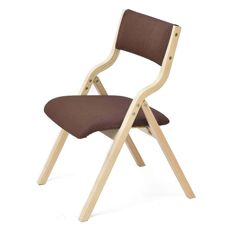 6 55.547.580cm ZZHF dengzi Chair, Dining Chair, Living Room, Office Computer Chair, Wooden Leg Fabric, Commercial Folding, Multi-color Optional (color   6, Size   55.5  47.5  80cm)
