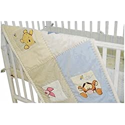 Kids Line Soft and Fuzzy Winne the Pooh Portable Crib Set